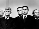 Edmund Stoiber, Joschka Fischer, Wolfgang Gerhardt, Gerhard Schroeder und Wolfgang Thierse, 2001