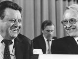 Edmund Stoiber und Franz Josef Strauss, 1979
