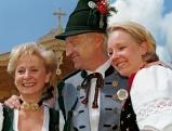 Edmund Stoiber mit Ehefrau Karin Stoiber und Tochter Veronika, 1999