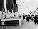 Das Promenadedeck der 2. Klasse auf der Titanic