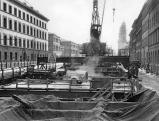 U-Bahn-Baustelle in der Ludwigstrasse, 1965