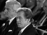 Vaclav Havel mit  Richard von Weizsaecker, 1990