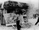 Brennender Kiosk