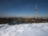 Schnee am Olympiaberg