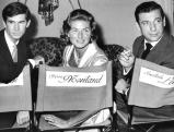 Anthony Perkins, Ingrid Bergman und Yves Montand, 1961