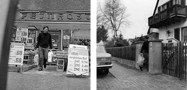 Rudi Dutschke beim Einkaufen, 1968