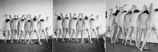 Mitglieder der Kommune 1 beim Shooting zur Ikone, 1967