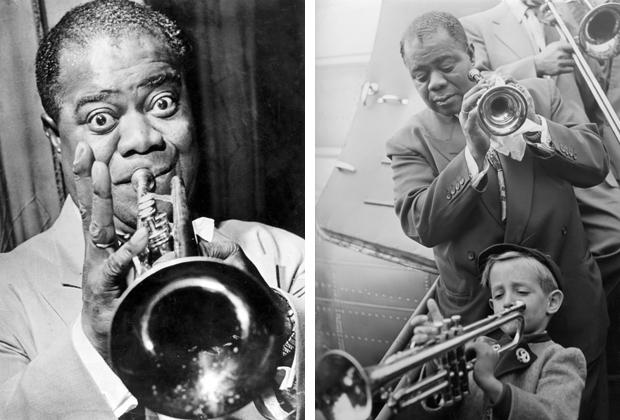 Amerikanischer Jazz-Musiker Louis Armstrong