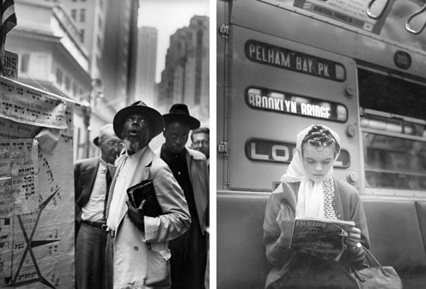 Jüdischer Prophet und Frau mit Lockenwicklern in New York