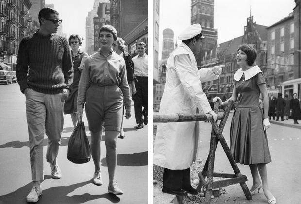 Mode in New York und München, 50er/60er Jahre