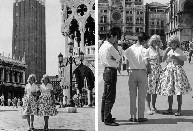Touristinnen in Venedig, 1959
