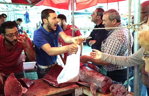 marktszene auf Palermos Ballaro