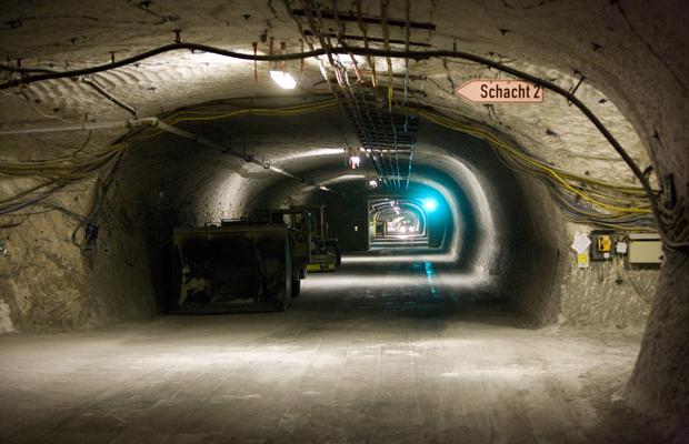 DEUTSCHLAND, GORLEBEN, 30.01.2014 Die Salzstollen des Erkundungsbergwerkes Gorleben in ca. 850m Tiefe.