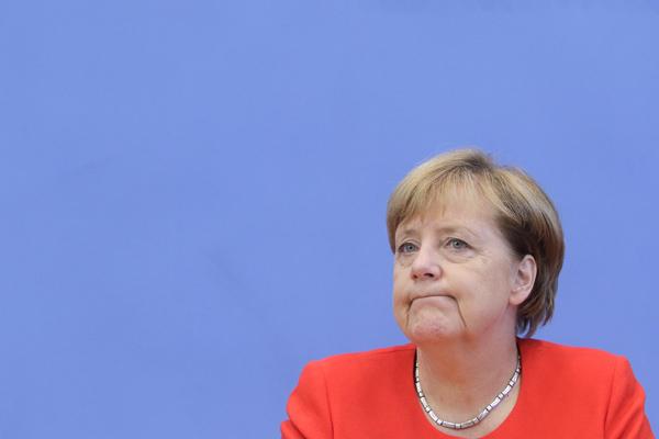 Angela Merkel, Bundeskanzlerin, CDU, Jahrespressekonferenz, DEU, Berlin, 29.08.2017
