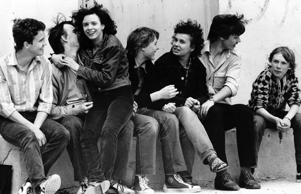 Jugendliche aus der Wohnstadt Süd in Halle, aufgenommen im Mai 1983. Foto: Berliner Verlag / Archiv